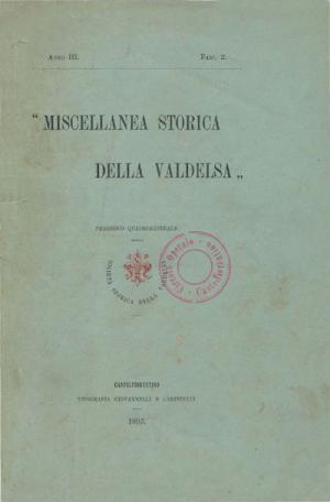 Miscellanea Storica della Valdelsa anno 1895