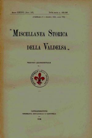 Miscellanea Storica della Valdelsa anno XXXVI 1928
