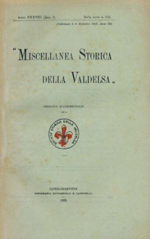 Miscellanea Storica della Valdelsa anno 1930