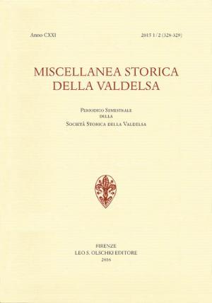 Miscellanea Storica della Valdelsa, anno CXXI, 2015
