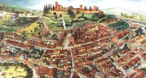 Castelfiorentino, acquerello di Massimo Tosi © (per gentile concessione)