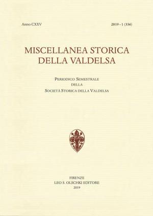 Miscellanea Storica della Valdelsa anno 2019