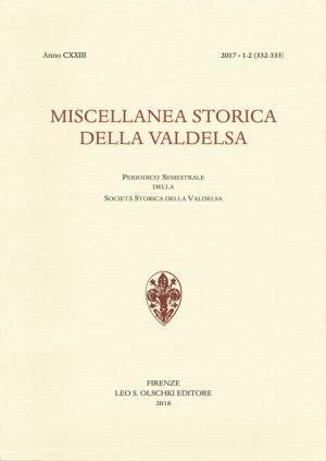 Miscellanea Storica della Valdelsa anno 2017